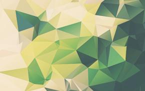 green, artwork, digital art, abstract, minimalism, geometry
