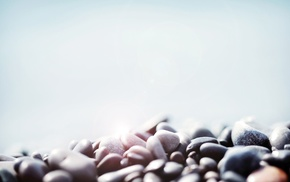 nature, simple background, macro, bright, depth of field, stones