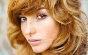 Eva Kerekesov, redhead, depth of field, Vica Kerekes, brown eyes, actress