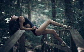 bridge, dancers, ballerina, girl, Eve Elizondo, girl outdoors