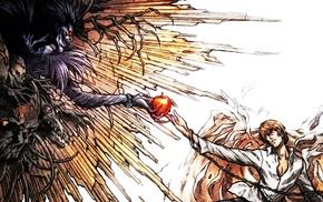 Light Yagami, Ryuk, anime, Death Note, parody, The Creation of Adam