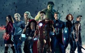 Avengers Age of Ultron, Black Widow, Hulk, Thor, Elizabeth Olsen, Scarlett Johansson