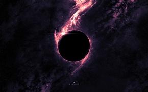 planet, fantasy art, eclipse