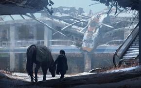 concept art, ruin, apocalyptic, video games, digital art, The Last of Us
