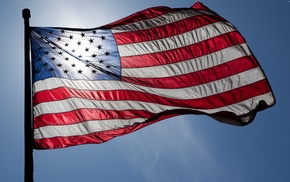 patriotic, American flag, flag, USA