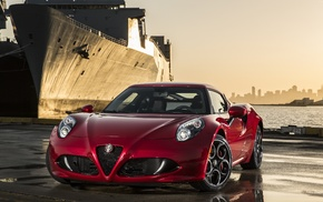 sports car, car, luxury cars, Alfa Romeo 4C