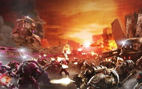 Warhammer 40, 000, futuristic, war, Horus Heresy, space marines