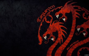 fire and blood, sigils, Game of Thrones, dragon, House Targaryen
