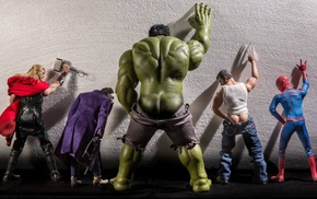 humor, Wolverine, Joker, Hulk, ass, Spider