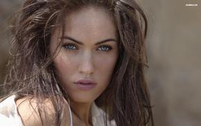 juicy lips, actress, blue eyes, girl, model, Megan Fox