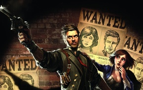Booker DeWitt, gun, BioShock Infinite, video games, BioShock, Elizabeth BioShock