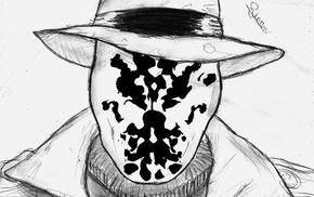 drawing, Watchmen, Rorschach