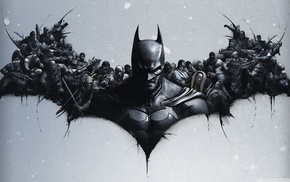 Batman, video games, Batman logo, Batman Arkham Origins, grunge