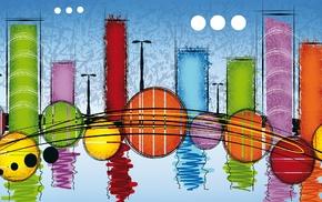 abstract, colorful, reflection, digital art, circle, imagination