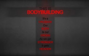 Bodybuilder, quote, red, minimalism, motivational