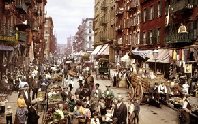 New York City, colorized photos