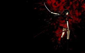 school uniform, Kisaragi Saya, Blood, C, anime girls