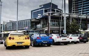 Mitsubishi Lancer Evolution IX, Nissan Skyline GT, R R35, JDM, Mitsubishi Lancer, car