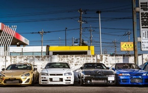 car, Toyota Supra MK3, Nissan GT, R R32, Nissan, Nissan Skyline GT
