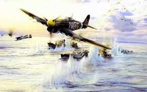 military, World War II, Hawker Typhoon, D, Day, military aircraft