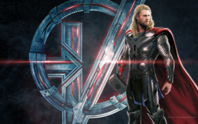 concept art, The Avengers, superhero, Thor, Avengers Age of Ultron, symbols