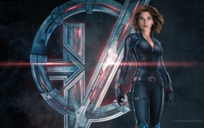 The Avengers, Scarlett Johansson, symbols, superhero, concept art, Black Widow