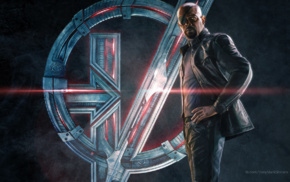 Nick Fury, concept art, movies, superhero, Samuel L. Jackson, Avengers Age of Ultron