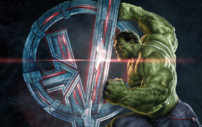 Avengers Age of Ultron, symbols, movies, Hulk, superhero, concept art