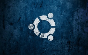abstract, Ubuntu, Linux, artwork, blue, logo