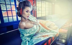 geisha, digital art, drawing, movies