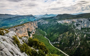 France, Verdon Gorge, nature, cliff, hill, landscape