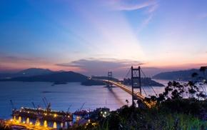 city, landscape, nature, night, Hong Kong