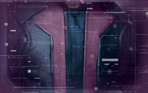 Hawkeye, The Avengers, interfaces, costumes, purple background, Avengers Age of Ultron