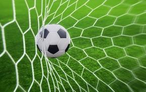 sport, depth of field, Goal, ball, sports, nets