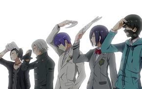 Tokyo Ghoul, anime boys, Kaneki Ken, Kirishima Touka, anime, Uta Tokyo Ghoul