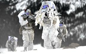 Mk 18 Mod 0, FN SCAR, winter, military, Navy SEALs, snow