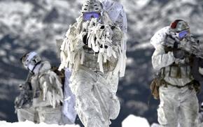 FN SCAR, snow, winter, military, Mk 18 Mod 0, Navy SEALs