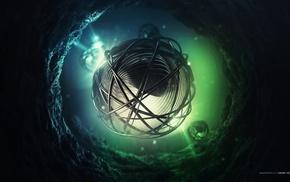 digital art, sphere, Lacza, abstract