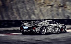 camouflage, McLaren P1, race tracks, twin, turbo, race cars