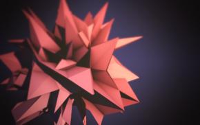 geometry, depth of field, 3D, digital art, minimalism, abstract