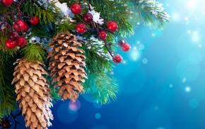 cones, decorations, nature, berries, trees