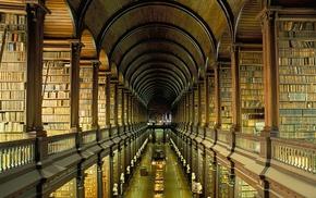 shelves, Ireland, books, college, library, Dublin