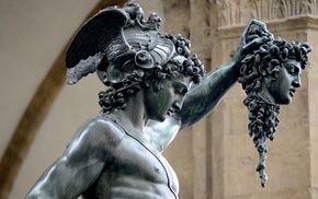 architecture, snake, Italy, Medusa, statue