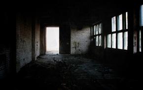 ruin, dark, abandoned, urban decay, building