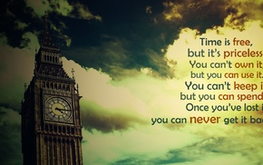 filter, clouds, London, Big Ben, quote, time