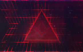 digital art, lines, abstract, triangle, red, geometry