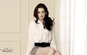 actress, celebrity, girl, brunette, Anne Hathaway
