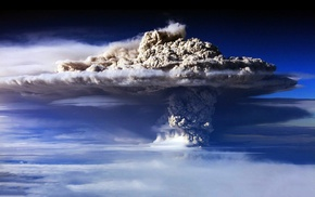 dust, nature, bomb, clouds, explosion, sky