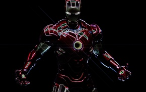 artwork, black background, digital art, superhero, Tony Stark, Robert Downey Jr.