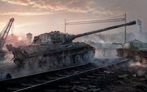 tank, World of Tanks, video games, artwork, ISU, 152
